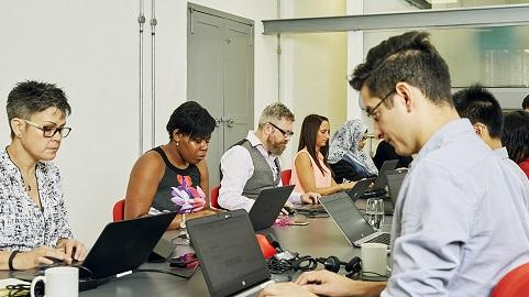 People at work in the Stonewall London office
